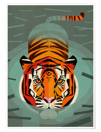 Poster SwimmingTiger