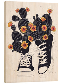 Legno  Sneakers with cactus - Valeriya Korenkova