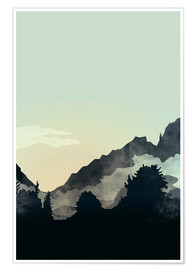 Poster Premium Misty Mountain