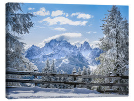 Stampa su tela  Winter in the Sesto Dolomites, South tyrol, Italy - Christian Müringer