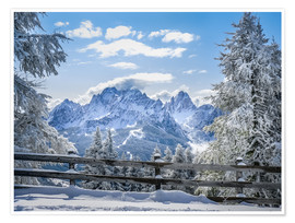 Poster Premium  Winter in the Sesto Dolomites, South tyrol, Italy - Christian Müringer