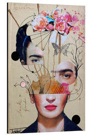 Alluminio Dibond  frida for beginners - Loui Jover