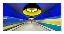 Poster Premium  Subway station in Munich - Dieter Meyrl