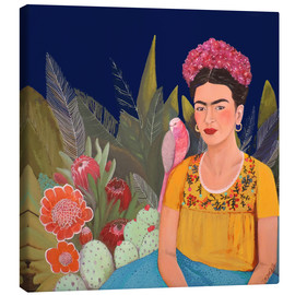 Tela  frida a casa azul revisitated - Sylvie Demers