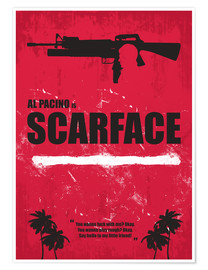 Poster Premium Scarface - Minimal Alternative Movie Fanart
