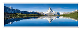 Poster Premium  Stellisee and Matterhorn near Zermatt in the Swiss Alps - Jan Christopher Becke