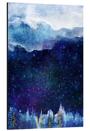 Alluminio Dibond  Blue night - Hajin Bae
