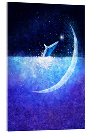 Vetro acrilico  Blue whale and crescent - Hajin Bae