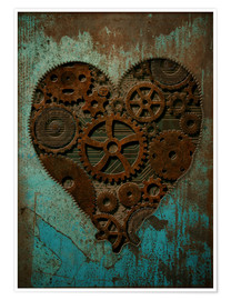 Poster Premium Clockwork Heart