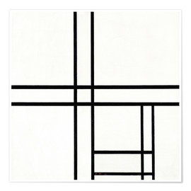 Poster Premium  Composition in White, Black, and Red - Piet Mondrian