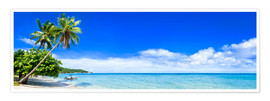Poster Premium Beach and ocean on a deserted island in the tropics