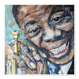 Poster Premium  What a Wonderful World, Louis Armstrong - Christel Roelandt