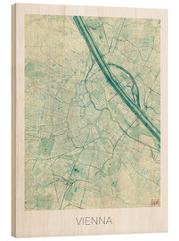 Stampa su legno  Vienna Map Blue - Hubert Roguski