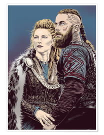 Poster  The Vikings - Paola Morpheus