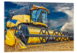 Stampa su PVC  Harvester in the cornfield - Peter Roder