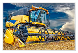 Poster Premium  Harvester in the cornfield - Peter Roder