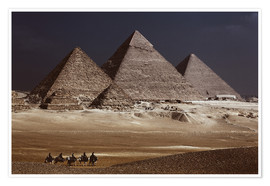 Poster Premium  Pyramids of Giza, Middle East - Catharina Lux