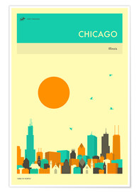 Poster Premium  Chicago - Jazzberry Blue