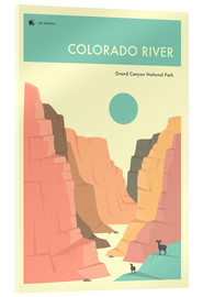Stampa su vetro acrilico  GRAND CANYON NATIONAL PARK POSTER - Jazzberry Blue