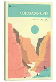 Stampa su tela  GRAND CANYON NATIONAL PARK POSTER - Jazzberry Blue