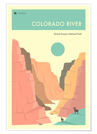 Poster Premium  GRAND CANYON NATIONAL PARK POSTER - Jazzberry Blue