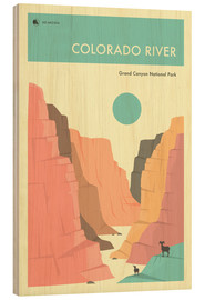Legno  GRAND CANYON NATIONAL PARK POSTER - Jazzberry Blue