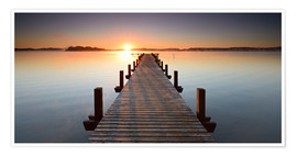 Poster Premium  Footbridge at sunrise - Andreas Vitting