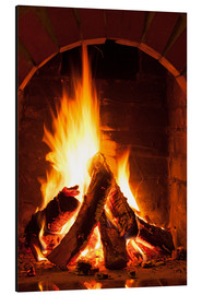 Wood in the fireplace