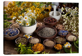 Stampa su tela  Herbal cooking