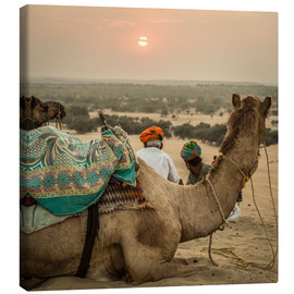 Stampa su tela  Sunset in the Thar Desert - Sebastian Rost