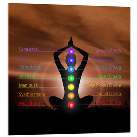 Forex  Chakras before evening sky