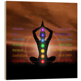 Stampa su legno  Chakras before evening sky