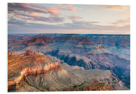 Stampa su schiuma dura  Sunset over the Grand Canyon south rim, USA - Matteo Colombo