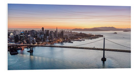 Matteo Colombo - Aerial view of San Francisco at sunset, USA