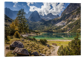 Stampa su vetro acrilico  Idyllic mountain lake in the Tyrol mountains (Austria) - Christian Müringer