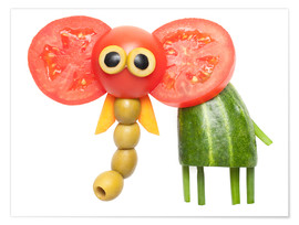 Poster  Vegetable animals - elephant