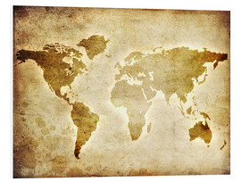 Forex  Vintage World Map