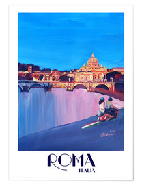 Poster  Retro Vespa in Rome to Vatican City - M. Bleichner