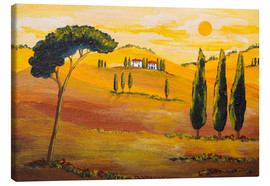 Stampa su tela  Sunshine in Tuscany in the Morning - Christine Huwer