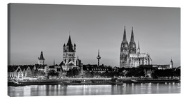 Stampa su tela  Magnificent Cologne black and white - Michael Valjak