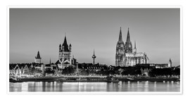 Poster Premium  Magnificent Cologne black and white - Michael Valjak