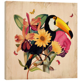 Stampa su legno  Oh My Parrot XII - Mandy Reinmuth