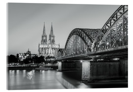 Vetro acrilico  Cologne at night in black and white - Michael Valjak