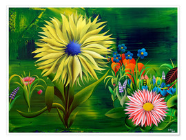 Poster Premium Flowers, abstract