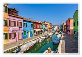 Poster Premium  Fishing village of Burano - Achim Thomae