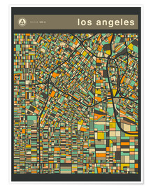 Poster Premium  LOS ANGELES - Jazzberry Blue