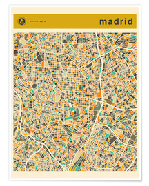 Jazzberry Blue - MADRID MAP