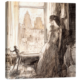 Stampa su tela  View from the window - Henri Patrick Raleigh