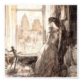 Poster Premium  View from the window - Henri Patrick Raleigh