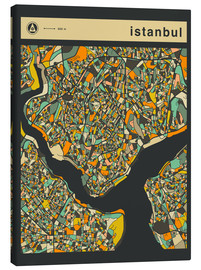 Stampa su tela  ISTANBUL MAP - Jazzberry Blue
